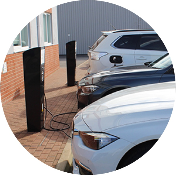 Electric Car Charging Points installed at a workplace