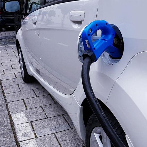 EV charging car parked