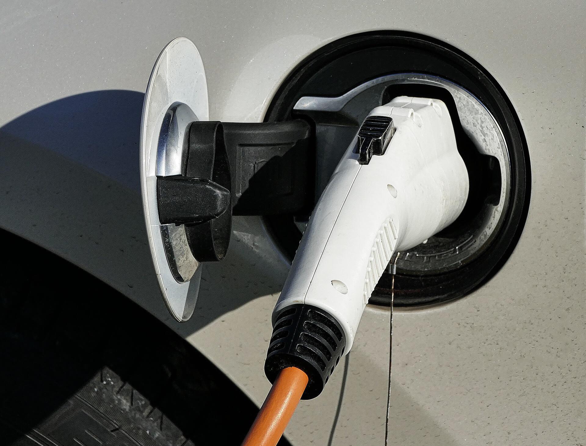 EV Charging plug in car