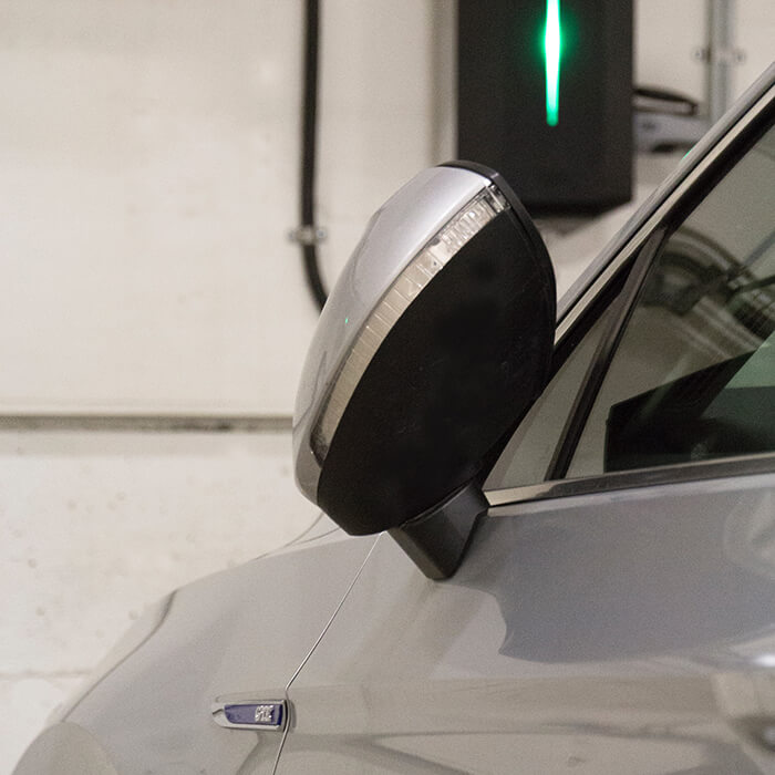 Charging point and car