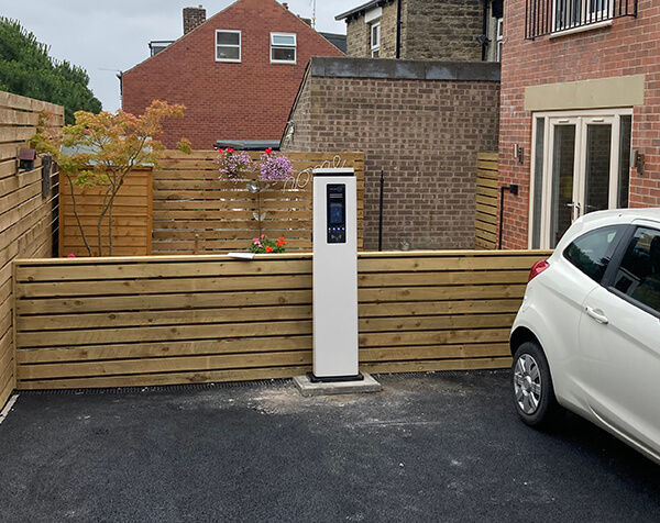 EV charger installed at commercial property
