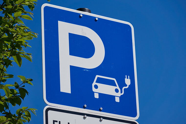 Electric charging sign